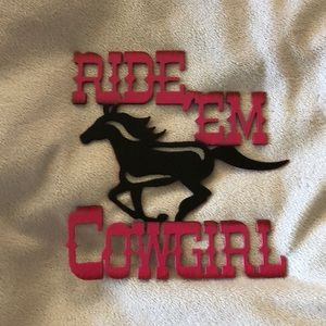 Metal Cowgirl Sign